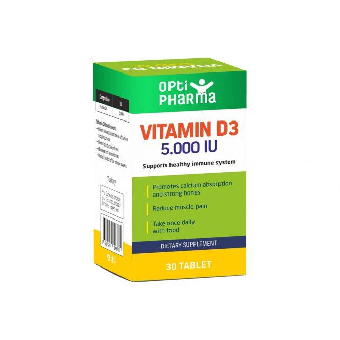 Opti Pharma Vitamin D3 5.000 IU